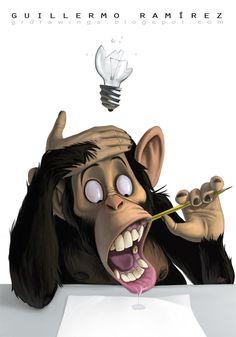 Monkey Business by GuillermoRamirez on DeviantArt Cartoon Kunst, Comic Kunst, Cartoon Art, Comic Art, Art And Illustration, Illustrations, Animal Drawings, Art Drawings, Desenho New School