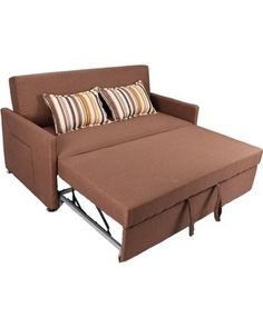 Victoria Andre Dark Brown Loveseat Sleeper By Istikbal Furniture