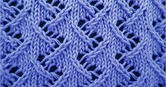 The zig zag lace stitch is an 8 row repeat and is knitted in a multiple of 6 stitches. Techniques used in this stitch: Slip slip knit: Ssk and Slip slip purl through back loop: Ssp