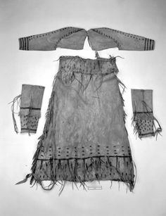Recreating A Two Hide Pre Contact Ojibwe/Cree Strap Dress