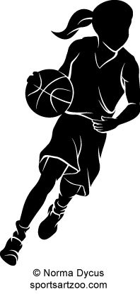 338dbff499f9 Young Basketball Girl Dribbling by SportsArtZoo. If you want to use this  design please pay