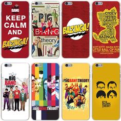 The Big Bang Theory Bazinga Tv Series Sitcom Case Cover For Iphone 5 5S 6 7 Plus