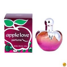 """Perfume """"Apple Love"""" 90 Ml en cajita de regalo"""