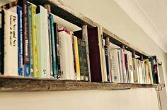 Repurpose an old ladder as a bookshelf.
