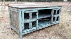 pallet vintage storage cabinet