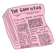 Funny pictures about The good news you never read about. Oh, and cool pics about The good news you never read about. Also, The good news you never read about. The Words, Art And Illustration, Make Me Happy, Happy Fun, Inspire Me, Good News, In This World, Inspirational Quotes, Art Quotes