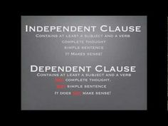 Check out the lesson Independent and Dependent Clauses on Blendspace