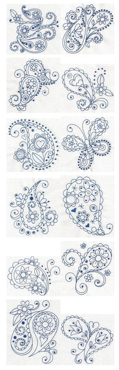 Paisley ~ Tattoo ideas but also great template for wall decals or for furniture.