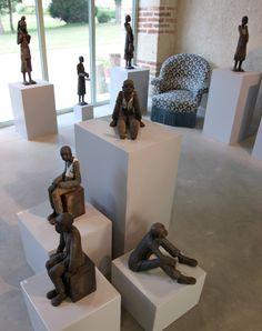 Joelle Gervais Gervais, Joelle, Terracotta, Dining Table, Sculpture, Furniture, Home Decor, Parks, Sculptures