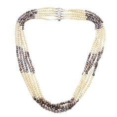 1stdibs   Black & White Natural Pearl Necklace