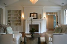 Architecture and design by Steve and Brooke Giannetti.... pretty built-ins.