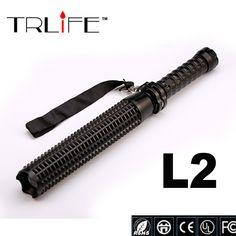 CREE XM-L L2 led flashlight 3800 lumens 5-modes Spiked Mace Baseball Bat Long light Self-defense Torch Tactical flashlights