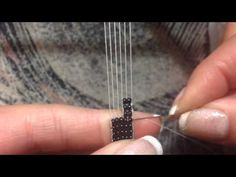 Making a button hole on a bead loom. - YouTube