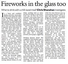 CANBERRA TIMES, Chris Shanahan, July 2013, with LOWE Wines