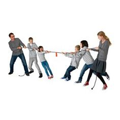IKEA - LATTJO, Skipping rope, The red touch-and-close fastener has dual functions: as a middle marker for a tug-of-war or to tie up the rope when not in use.Tug-of-war is an activity for both children and adults together.