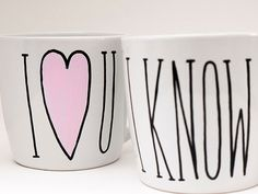 I Love You I Know Coffee Cup // Husband and Wife Gifts // His and Her Gifts // Boyfriend and Girlfriend Gifts // Long Distance Gift