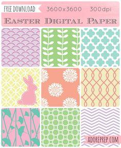 Easter Digital Paper (free download)
