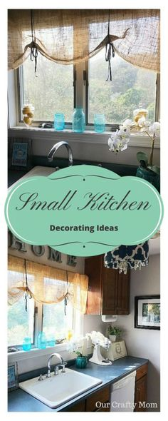 Small Kitchen Decorating Ideas {Room by Room Summer Showcase Week Two} Our Crafty Mom