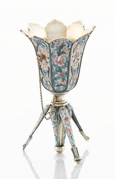 A Victorian Silver Posy Holder By Nathaniel Mills Tussie