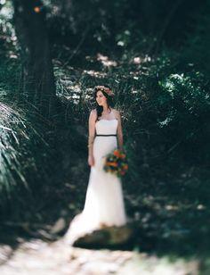 woodland inspired bride