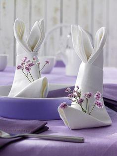 bunny ear shaped napkins