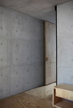 Concrete & wood via Darling, be daring.