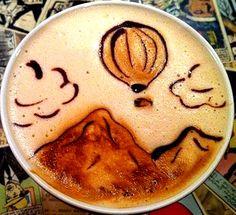 .·:*¨¨*:·.Coffee ♥ Art.·:*¨¨*:·.  Hot Air balloon latte
