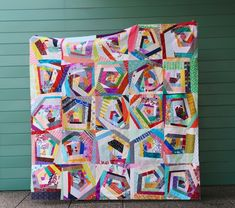 Scraps Go Round - An Improv Log Cabin Style Quilt — Cheryl Arkison Scrappy Quilts, Mini Quilts, String Quilts, Log Cabin Quilts, Quilt Top, Textile Art, Cheryl, Fabric, Blog