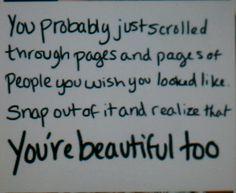 I'm beautiful too