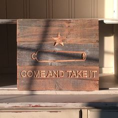 Texas Come and Take It Reclaimed Wood Pick A Size by ShopAtBear
