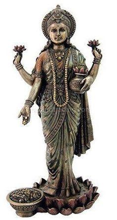 Lakshmi Hindu Goddess of Wealth Statue