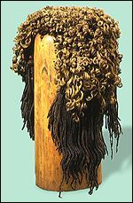 "theotherhistory: "" Ancient Egyptian Wigs Egyptians wore dreadlocks and braided wigs. They made the wigs by growing their hair out, cutting it off, and then sewing the hair to a net.They then decorated."