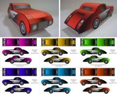 Papercraft vintage cars. You could use this for favor boxes etc. Click on link for templates. http://papermau.blogspot.ca/2013/01/1930s-classic-car-paper-model-by.html