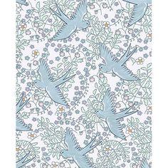 359020 - Cerina Off-White Swallow Wallpaper - by Eijffinger