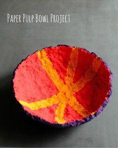 Paper Pulp Bowl Project