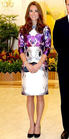 Kate, Duchess of Cambridge at State Dinner hosted by President of Singapore. September 11, 2012.