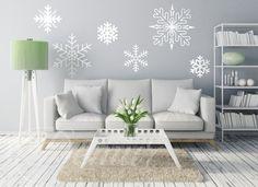 Płatki śniegu - Abstrakcja - Naklejka na ścianę - Demur