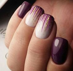 Nail art is a very popular trend these days and every woman you meet seems to have beautiful nails. It used to be that women would just go get a manicure or pedicure to get their nails trimmed and shaped with just a few coats of plain nail polish. Cute Summer Nail Designs, Cute Summer Nails, Cute Nails, My Nails, Gold Nails, Purple Nails, Nail Art Ideas For Summer, Summer Nail Art, Summer Gel Nails