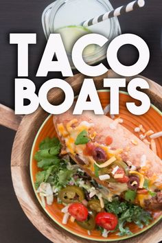 Ole! TACO Boats - MEXICAN style stuffed SUBS #EasyWeeknightMeals Make it TODAY! Recipe: http://bit.ly/TacoBoats