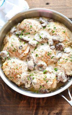 INGREDIENTS  8 bone-in, skin-on chicken thighs Kosher salt and freshly ground black pepper, to...