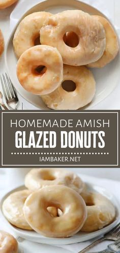 Celebrate the most special of occasions with delicious Amish Glazed Donuts! This recipe is easy to make from scratch and truly a labor of love. Your family will love this melt-in-your-mouth homemade treat covered in a smooth glaze! Pin this breakfast idea for later! Amish Donuts Recipe, Donut Recipes, Best Dessert Recipes, Brunch Recipes, Fun Desserts, Sweet Recipes, Delicious Desserts, Breakfast Recipes, Breakfast Ideas