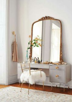 Mirror Decoration You Will Love. Mirror Decoration You Will Love. In interior design, a mirror can be something that has magical power. The mirror can brighten a room that feels dark,. Sweet Home, Sweet 16, Anthropologie Home, Home Bedroom, Girls Bedroom, Bedrooms, Master Bedroom, Mirror Bedroom, Wall Lamps