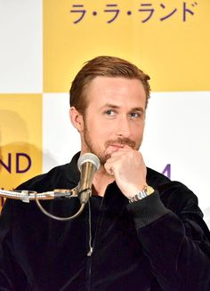 Ryan Gosling at the 'La La Land' Press Conference on January 27, 2017 in Japan