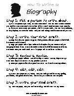 How to write biography essay