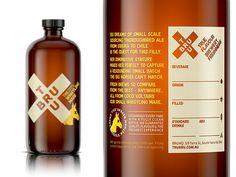 Tru Bru craft beer branded bottle packaging.