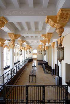 Southside National Bank Lobby    Vaulted Ceilings    Original Teller Line    St. Louis Wedding Venues    Roaring 20's    Vintage