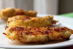 this lady lost 135lbs and has all her recipes written out! Coconut crusted chicken.
