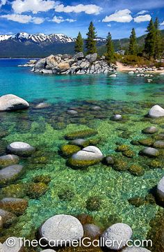 Spring at Sand Harbor Sand Harbor Lake Tahoe, Places Around The World, Around The Worlds, Places To Travel, Places To Visit, Unique Vacations, Nevada Usa, Pretty Pictures, Vacation Spots
