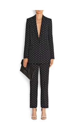 Givenchy cross print trouser suit