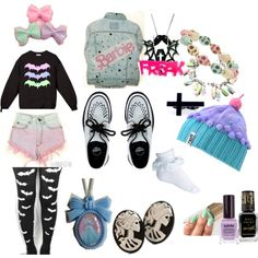 """Pastel Goth"" by pastelusagi on Polyvore"